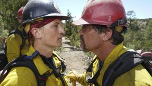 Josh Brolin and Miles Teller in Only the Brave. The film gets by well enough as a latter-day Hawksian tale of men at work and the women who love them.