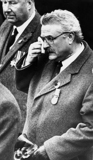 Mr Ken Maginnis, the Unionist MP for Fermanagh-South Tyrone, at a commemoration service a fortnight after the bombing. Photograph: Matt Kavanagh / The Irish Times