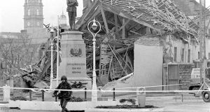 The scene of the  Enniskillen bombing in 1987.  Photograph: Chris Bacon/PA