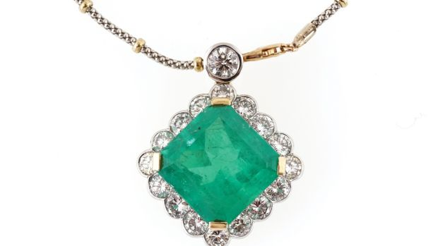 Gold pendant with a 26ct Colombian emerald and diamonds, €40,000-€60,000