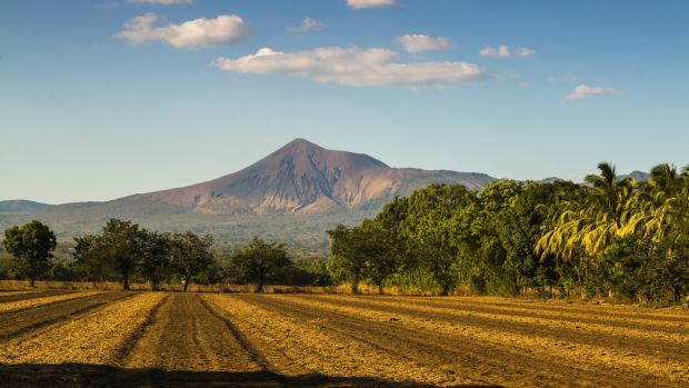 The Telica volano, one of the country's most active volcanoes, in the North West volcanic chain in Leon, Nicaragua. Photograph: Rob Francis/Getty Images