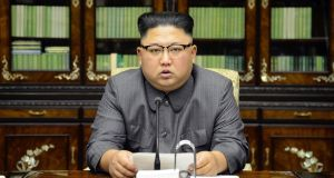 North Korean leader Kim Jong-un:  desire by Finian McGrath, Shane Ross and John Halligan to attempt intervention in the most dangerous crisis currently facing the planet is a mystery. Photograph:   AFP/KCNA via KNS/STR