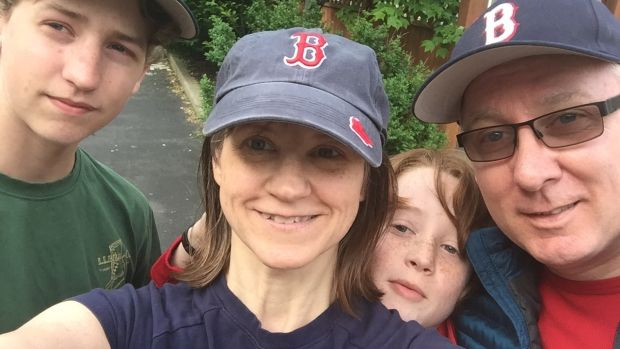 Sean Rogers with his wife Ruth and sons Eoin and Henry: 'With good parenting our two boys will come out strong from the Trump years and more aware of the inequalities that surround them.'