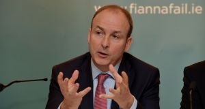 """There is no point in coming in here saying we all support hospices when you screwed them,'' said Micheál Martin to Taoiseach Enda Kenny in the Dáil. Photograph: Alan Betson"