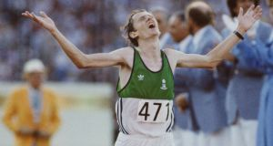 John Treacy finishing  second  in the  marathon  at the 1984 Olympics in Los Angeles. Photograph: Tony Duffy/Getty Images