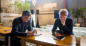 John (left) and Patrick Collison, co-founders of Stripe.