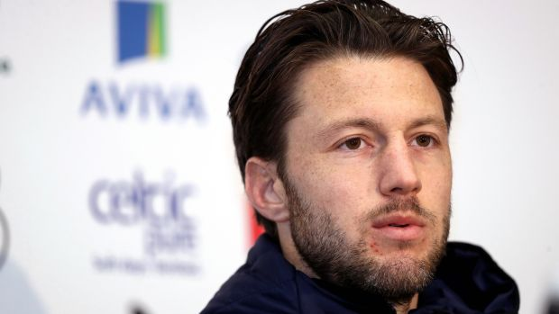 Ireland's Harry Arter at a press conference ahead of the 2018 World Cup playoff against Denmark. Photo: Oisin Keniry/Inpho
