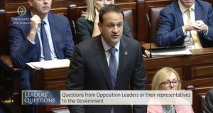 "Taoiseach Leo Varadkar: ""It is not going to be possible to fully resolve the Border question until we start to talk about the future relationship that the UK will have with the European Union."" Photograph: PA"