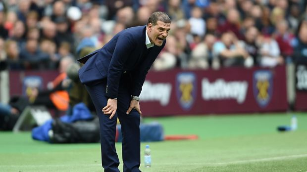Slaven Bilic's West Ham tenure ended with a defeat to Liverpool. Photograph: Daniel Hambury/PA