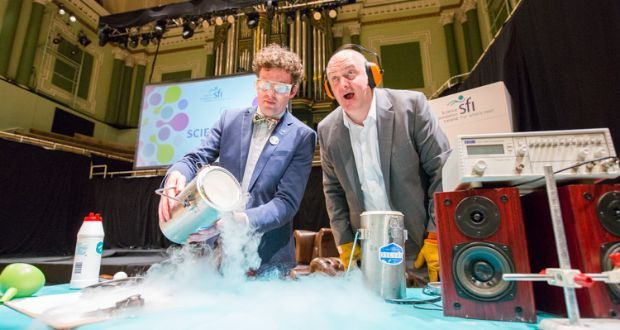 Dara O'Briain's 2016 Scintillating Science event in the National Concert Hall asked and answered questions like: why do our brains love to win; do you have what it takes to travel into outer space?
