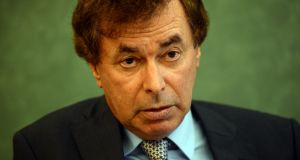 Former minister for justice Alan Shatter has won his appeal over a finding that his disclosure on live TV of information concerning Independents4Change TD Mick Wallace was a breach of his duties under the Data Protection Act. Photograph: Cyril Byrne/The Irish Times.