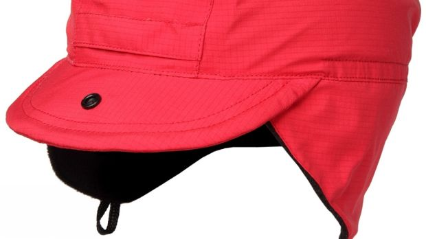 The Lowe Alpine Mountain Cap, €35, is fully waterproof, fleece-lined and has adjustable earflaps and a peak.