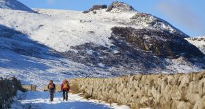 Winter can be one of the nicest times of year to get out hiking. Photograph: Getty Images