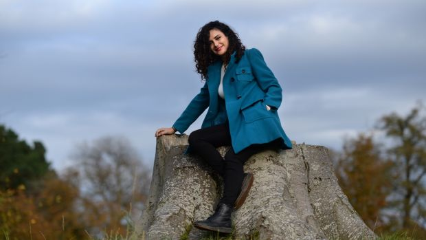 Ruba Shamshoum is a singer from Nazareth, living in Ireland for the past five years. Photograph: Dara Mac Dónaill