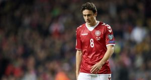 Thomas Delaney netted four times for Denmark on their way to securing a 2018 World Cup qualifying playoff spot. Photo: Lars Ronbog / FrontZoneSport via Getty Images