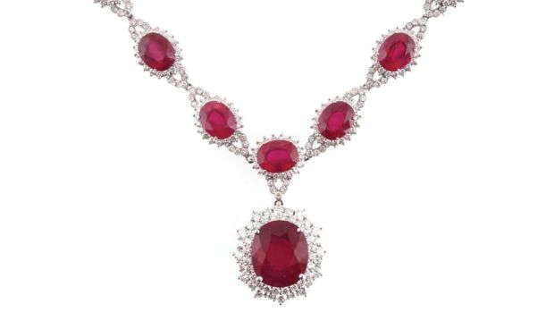 Ruby and diamond necklace, €5,000-€8,000