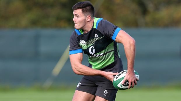 Jacob Stockdale will make his Ireland debut against the Springboks on Saturday. Photograph: Billy Stickland/Inpho