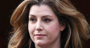 Penny Mordaunt leaves No 10 Downing Street in London after being appointed  the new British international development secretary. Photograph: Andy Rain/EPA