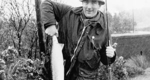 Peter Mantle with a fine Delphi salmon