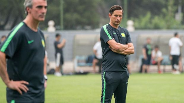 Beijing Guoan: Jim McGuinness with head coach Roger Schmidt. Photograph: VCG via Getty
