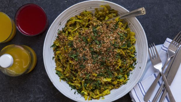 Mustard-braised spiced cabbage: cabbage is the best vegetable there is.