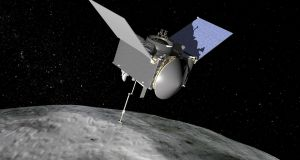 Nasa scientists have used Earth's gravity to slingshot 'OSIRIS-REx'  to an asteroid called Bennu. Illustration: Nasa