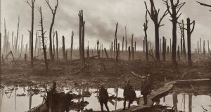 Australian soldiers near Hooge in the Ypres salient. Photograph: Frank Hurley