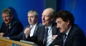 Members of the Independent Alliance Seán Canney, Kevin 'Boxer' Moran, Shane Ross and John Halligan. Photograph: Alan Betson/The Irish Times.