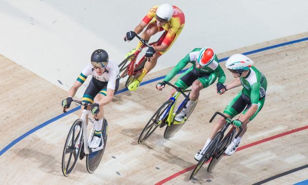 Felix English and Mark Downey during day 2 of Track Cycling World Cup in Pruszkow. Photograph: Getty