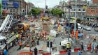 Last year's Luas construction works at O'Connell Bridge, Dublin:  the IMF report said the Republic managed its public infrastructure relatively well by international standards. Photograph: Eric Luke