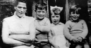 Jean McConville pictured with three of her children shortly before she disappeared in 1972.