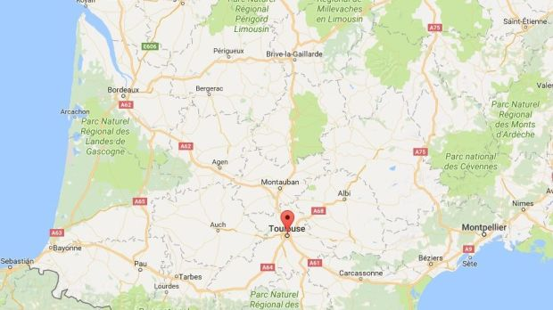 Incident occurred in Toulouse in southern France, police say. Source: Google maps