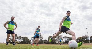 Ireland International Rules squad player Paul Geaney during training at  St Anne's Park, Adelaide. Photograph: Inpho