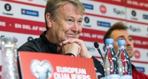 "Denmark manager Åge Hareide: ""We know the Irish are physical but they are not dirty."" Photograph: Anders Kjaerbye/EPA"
