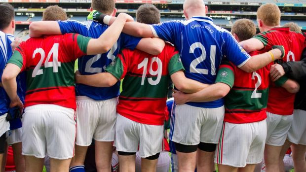Members of the Garda and PSNI GAA cluns in Croke Park after a game in 2011.