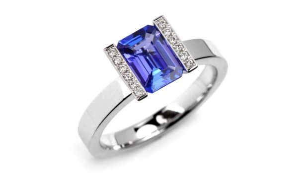 Tanzanite, sourced in Tanzania, is a rich coloured gemstone in deep blues with purple hues