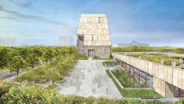 Obama Presidential Center: the $500 million complex, in Chicago, will include an archive, but the official library is digital only. Illustration: Obama Foundation