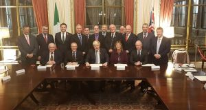 The  delegation of TDs and Senators who met Boris Johnson on Monday in the foreign office in London