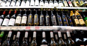 Under the new Bill retailers must put alcohol into a separate area in the shop and keep it in a closed storage unit. Photograph: Sasko Lazarov/Photocall Ireland
