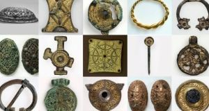 Among the Irish items in the collection were brooches and buckles of gilt bronze, fashioned from decorative fittings, which have been exhibited several times in the National Museum of Ireland in Dublin. Photograph: University Museum of Bergen.