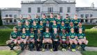 The South African team line up after the Captain's Run at the Radisson St Helen's Hotel in Dublin. Photograph: Bryan Keane/Inpho