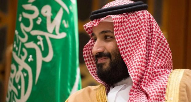 Crown Prince Mohammed bin Salman, who many in Lebanon have no doubt is the prime mover of Hariri's resignation. Photograph: Saudi Press Agency/via Reuters