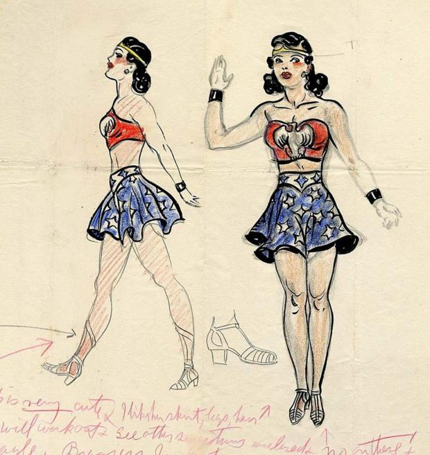 One of the very first sketches of Wonder Woman by H.G. Peter. It was sold at auction in in 2006 for $75,000. Source: H.G. Peter/ComicLink