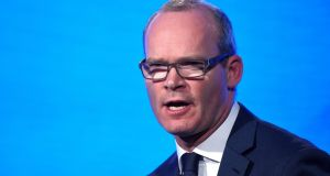 Minister for Foreign Affairs Simon Coveney at the Fine Gael national party conference in Ballyconnell, Ireland November on Friday. Photograph: Clodagh Kilcoyne/Reuters