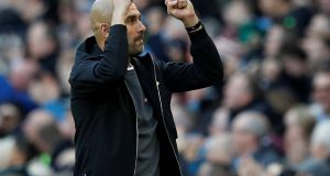 Manchester City manager Pep Guardiola will be delighted with his team's start to the season. Photograph: Reuters