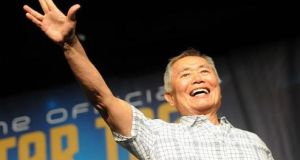 George Takei delivers a Vulcan salute at a Star Trek convention in Las Vegas in 2015. File photograph: Getty Images
