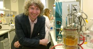 Dr John Morrissey of UCC, who co-ordinates a project entitled  CHASSY, developing yeasts for making ingredients in cosmetics. Photograph: John Sheehan