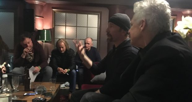 "The Edge of U2, in London today, discussing the impact of the Paradise Papers: ""We do understand why people are angry with the system as it is, it definitely needs an overhaul. It's a complex thing, it's not like one nation can do it on their own."" Photograph: Roisin Ingle"