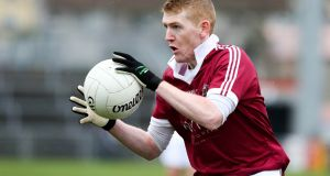 Christopher Bradley scored 1-5 as Slaughtneil beat Kilcar in the AIB Club SFC semi-final at Healy Park in Omagh. Photograph: Philip Magowan/Inpho/Presseye