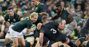 South Africa's scrumhalf Ross Cronje . Photograph:  Getty Images